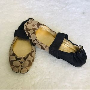 Coach Monogram Ballets Flat Shoes size 61/2 B